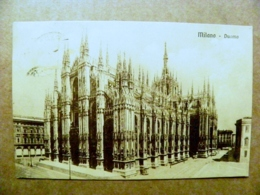 Old Post Card Carte Karte Italy 1911 Milano Duomo Church Cathedral - 1900-44 Vittorio Emanuele III