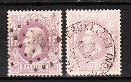 36 Emission De 1869 - Bonne Valeur - 2 Nuances Différentes - Oblit. - LOOK!!!! - 1869-1883 Leopold II.