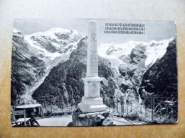 Old Post Card Carte Karte Italy 1923 Ortler Dal Rocca Blanca Mountains Berge Montagnes Obelisk - 1900-44 Vittorio Emanuele III