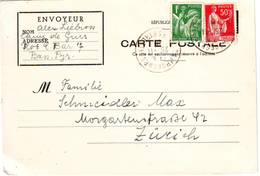 GUERRE DE 40 , ENTIER CARTE EN FRANCHISE DU CAMP DE GURS Expediee Par Un INTERNE En SUISSE , RARE - Marcophilie (Lettres)