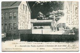 CPA - Carte Postale Signée Par HENRI BAELS - Belgique - Incendie Des Tanks à Pétrole à Hoboken - 1905 ( HB10895) - Antwerpen
