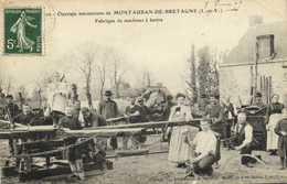 Ouvriers Mécaniciens De MONTAUBAN DE BRETAGNE  Fabrique De Machines à Battre RV - France