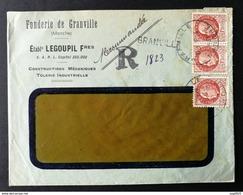 Manche.Enveloppe Fonderie De Granville En Recommandé - 1921-1960: Periodo Moderno
