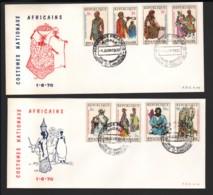 RWANDA / 2 FDC's Du 01.06.1970 / COSTUMES NATIONAUX AFRICAINS II - 1970-79: FDC