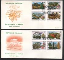 RWANDA / 2 FDC's Du 27.10.1975 / PROTECTION DE LA NATURE - PAYSAGES ET FLEURS - Rwanda