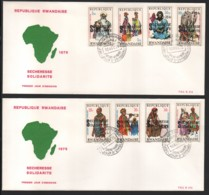 RWANDA / 2 FDC's Du 10.11.1975 / SECHERESSE - SOLIDARITE - 1970-79: FDC