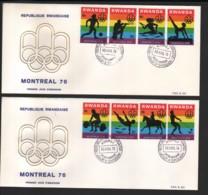 RWANDA / 2 FDC's Du 30.08.1976 / JEUX OLYMPIQUES DE MONTREAL - 1970-79: FDC