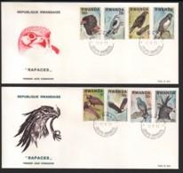 RWANDA / 2 FDC's Du 12.09.1977 / RAPACES - Rwanda