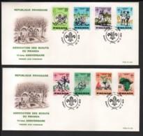 RWANDA / 2 FDC's Du 20.02.1978 / 10�me ANNIVERSAIRE DU SCOUTISME - Rwanda