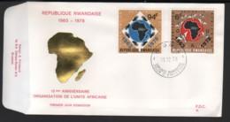 RWANDA / FDC Du 18.12.1978 / 15�me ANNIVERSAIRE DE L'O.U.A. - Ruanda