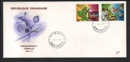 RWANDA / FDC Du 08.06.1979 / PHILEXAFRIQUE II - JUIN 1979 - Rwanda