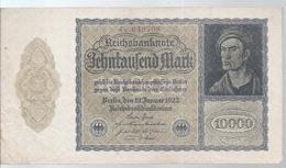 AK-23840a -   10 000 Reichsmark V. 19. Januar 1922   Nr. 4 X 049 708 - [ 3] 1918-1933 : República De Weimar