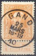 N°79 - 1Fr. Orange, Obl. Sc GAND 25 Mars 10 - 14877 - 1905 Breiter Bart