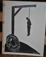 Très Rare Dessin Original Signé Carral à L'encre De Chine Dessin De Presse 1962 Exécution Adolf Eichmann - Original Drawings