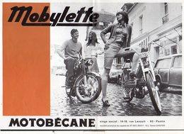 Publicité 1970 Environs / Catalogue 2 Volets ( Vélomoteur ) Mobylette Et  Motobécane Standards Et Spéciales à  Pantin 93 - Werbung
