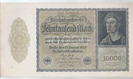 AK-23843a  -   10 000 Reichsmark V. 19. Januar 1922   Nr. 18 K 330431 - [ 3] 1918-1933 : República De Weimar
