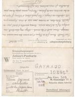 STALAG IV A CARTE DOUBLE AVEC REPONSE W 12.3.1945 - Marcophilie (Lettres)