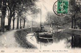 RENNES  Bords De L'ille-et-Rance  - Péniche - Rennes