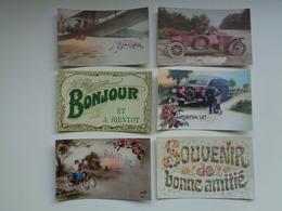 Beau Lot De 20 Cartes Postales De Fantaisie  Bonjour  Souvenir  Pensée      Mooi Lot 20 Postkaarten Van Fantasie Groeten - 5 - 99 Cartes
