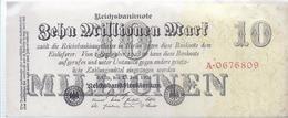 AK-23858  -   10  Millionen   Reichsmark V. 25 Juli 1923   Nr.  A 0676809 - [ 3] 1918-1933 : République De Weimar