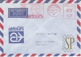 Deutsche Bundepost 1978 Franquia Mecânica AIRTOURS Red Meter Ema Mechanical DusseldorfTurismo Viagens Tourism Travel - Vacaciones & Turismo