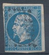 N°14 VARIETE NUANCE ET OBLITERATION. - 1853-1860 Napoleone III