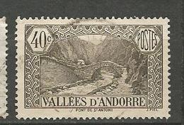 ANDORRE N° 62 OBL - Usati