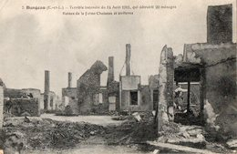 DANGEAU  Terrible Incendie Du 14/08/1911 Ruines De La Ferme Choiseau - Sonstige Gemeinden