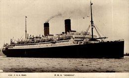 RPPC RMS HOMERIC - Paquebote