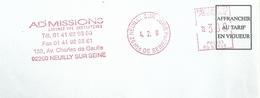 Ema Satas SG - Avenue Charles De Gaulle - Président De La République - Enveloppe Entière - Postmark Collection (Covers)
