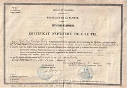 Rare équipage De La Flotte Certificat D'aptitude Au Tir 1887 - 1914-18