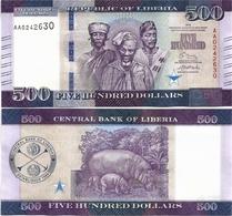 LIBERIA       500 Dollars       P-36a       2016       UNC - Liberia