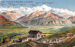 Panorama Du Mont Blanc Vu Du Salève - Train - GE Geneva