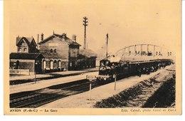 Pas De Calais AVION La Gare Vue Intérieure (train) - Avion