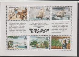 Pitcairn 1989 Bateaux 317-322 6 Val ** MNH - Briefmarken
