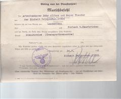 AK-23880 A  -   Marschbefehl  Für Dienstreisen  24.7.1942 - Historische Dokumente