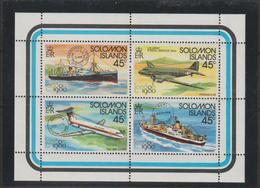 Iles Salomon 1980 Bateaux Et Avions 406-409 4 Val ** MNH - Salomon (Iles 1978-...)