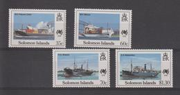 Iles Salomon 1988 Bateaux 654-657 4 Val ** MNH - Salomon (Iles 1978-...)