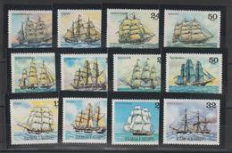 Samoa 1979-80-81 Bateaux 436-9, 460-3 Et 480-3 12 Val ** MNH - Samoa