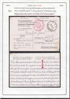 Belgique 1941 Stalag XIII A- Carte Postale De Reponse Au Prisonnier. Franc De Port Et Nom Du Camp..... (VG) DC5303 - WW II
