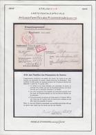 Belgique  Stalag XIII A- Carte Postale Speciale-Avis Aux Familles Des Prisonniers De Guerre..... (VG) DC5326 - WW II