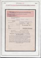 Belgique  Stalag XIII A- Envoi Aux Prisonniers De Guerre. Etiquette Rouge Envoi De Vetêments................ (VG) DC5330 - WW II