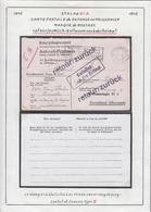 Belgique  Stalag XI A- Carte Postale De Reponse Au Prisonnier. Marque De Routage................ (VG) DC5334 - Guerre 40-45
