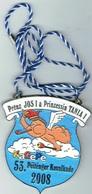 Luxembourg 53 Péitenger (Pétange)Kavalkad 2008 Prënz Jos I Prinzessin TANIA I - Entriegelungschips Und Medaillen