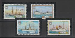 Tuvalu 1987 Bateaux 416-19 4 Val ** MNH - Tuvalu