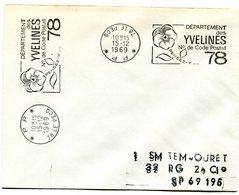 YVELINES De LE PECQ Flamme En P.P. Sur Env. De 1969 - Postmark Collection (Covers)