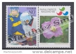 Japan - Japon 1998 Yvert 2413-14, Paralympic Winter Games, Nagano - MNH - Unused Stamps