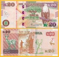 Zambia 20 Kwacha P-59 2018 UNC Banknote - Zambia