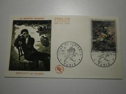 1962 FDC - Officier De Chasseurs à Cheval - Géricault (Paris) N°1365 - FDC