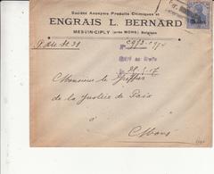 Guerre 1914/18    Enveloppe    De 1917   Censure       Engrais L Bernard - WW I